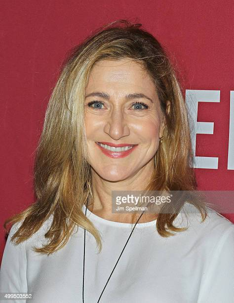 Actress Edie Falco attends the ONE And 's 'It Always Seems Impossible Until It Is Done' at Carnegie Hall on December 1 2015 in New York City