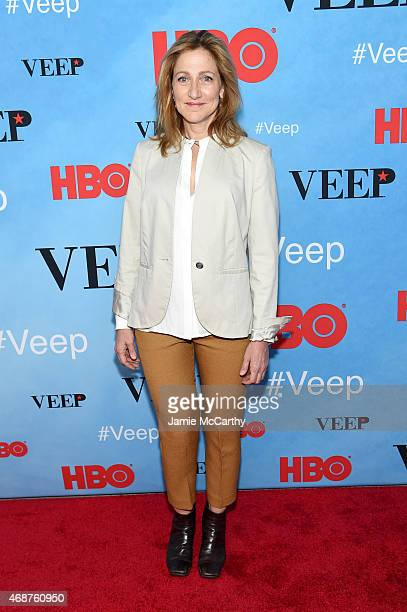 Actress Edie Falco attends the VEEP Season 4 New York Screening at the SVA Theater on April 6 2015 in New York City