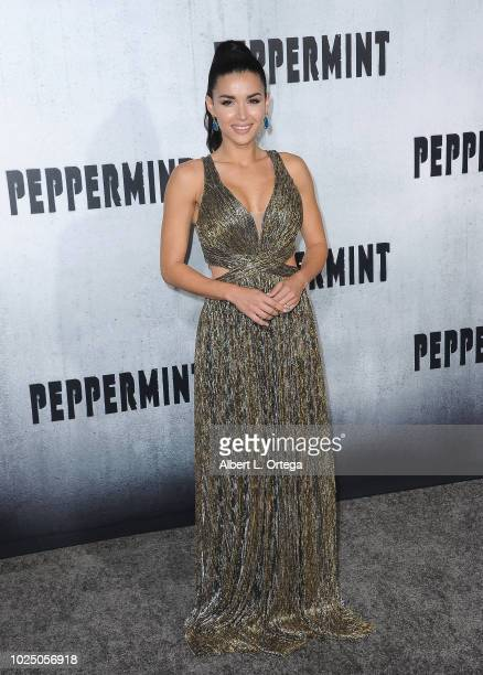 Actress Edilsy Vargas arrives for the Premiere Of STX Entertainment's Peppermint held at Stadium 14 on August 28 2018 in Los Angeles California