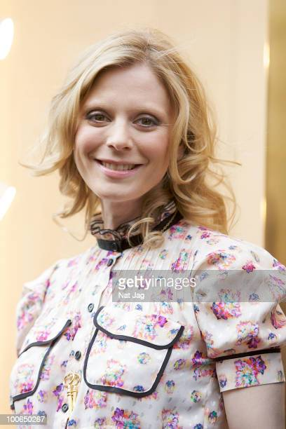 Actress Edith Bowman attends the launch of the Louis Vuitton Bond Street Maison on May 25 2010 in London England