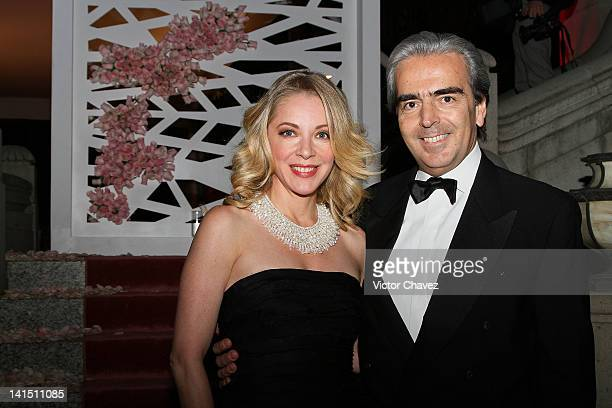 Actress Edith Gonzalez and her husband Lorenzo Lazo attend the Montblanc 'Grace Kelly' collection introduction at Condesa on March 13 2012 in Mexico...