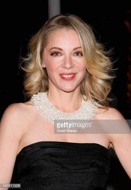 Actress Edith Gonzalez attends the Montblanc 'Grace Kelly' collection introduction at Condesa on March 13 2012 in Mexico City Mexico