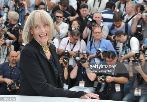 Actress Edith Scob poses at the Holy Motors Photocall during the 65th Annual Cannes Film Festival at Palais des Festivals on May 23 2012 in Cannes...