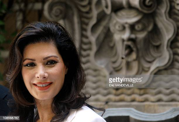 Actress Edwige Fenech at the photocall in Rome Italy of the film 'Hostel Part 2' by director Eli Roth with actress Edwige Fenech on June 18 2007