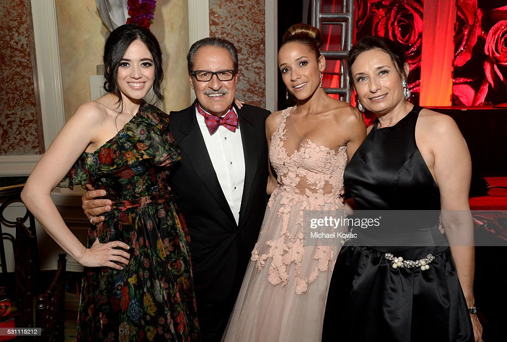 Actress Edy Ganem, AltaMed Health Services Corporation president and CEO Castulo de la Rocha, actress Dania Ramirez and AltaMed's Zoila Escobar attend the AltaMed Power Up, We Are The Future Gala at the Beverly Wilshire Four Seasons Hotel on May 12, 2016 in Beverly Hills, California.