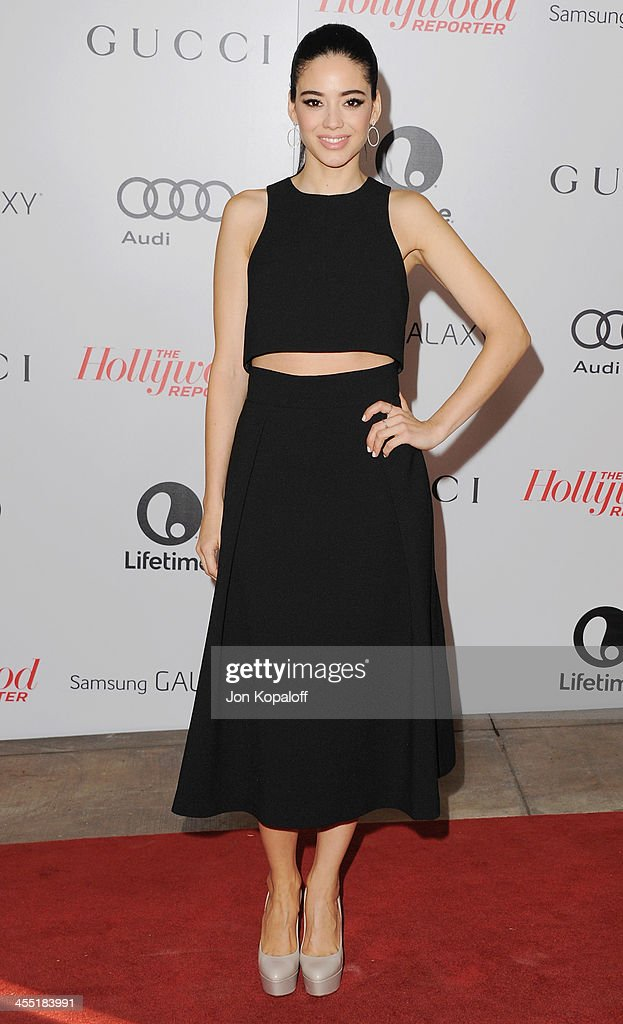 Actress Edy Ganem arrives at The Hollywood Reporter's 22nd Annual Women In Entertainment Breakfast 2013 at Beverly Hills Hotel on December 11, 2013 in Beverly Hills, California.