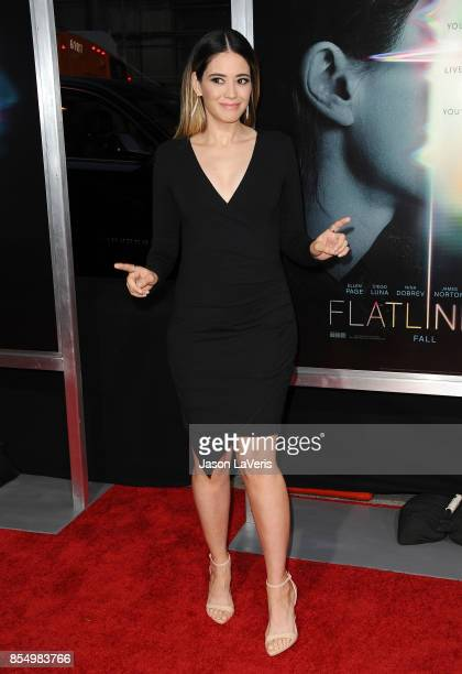 Actress Edy Ganem attends the premiere of Flatliners at The Theatre at Ace Hotel on September 27 2017 in Los Angeles California