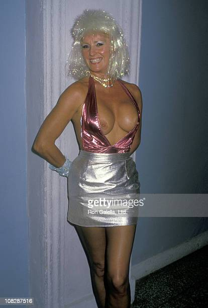 Actress Edy Williams attends the 15th Annual Saturn Awards After Party on August 23 1988 at St James Club in West Hollywood California