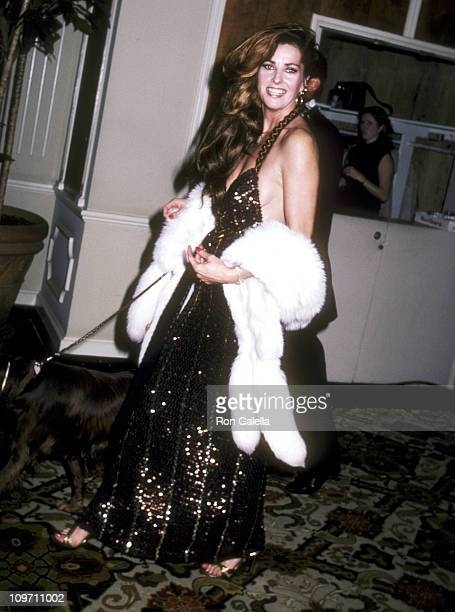 Actress Edy Williams attends the 39th Annual Golden Globe Awards on January 30 1982 at Beverly Hilton Hotel in Beverly Hills California