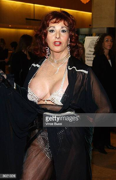 Actress Edy Williams attends the 41st Annual ICG Publicists Awards on February 27 2004 at the Beverly Hilton Hotel in Beverly Hills California
