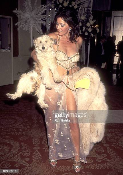 Actress Edy Williams attends the 49th Annual Academy Awards Governor's Ball on March 28 1977 at Beverly Hilton Hotel in Beverly Hills California