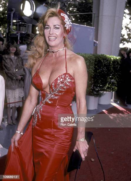 Actress Edy Williams attends the 55th Annual Academy Awards on April 11 1983 at Dorothy Chandler Pavilion in Los Angeles California