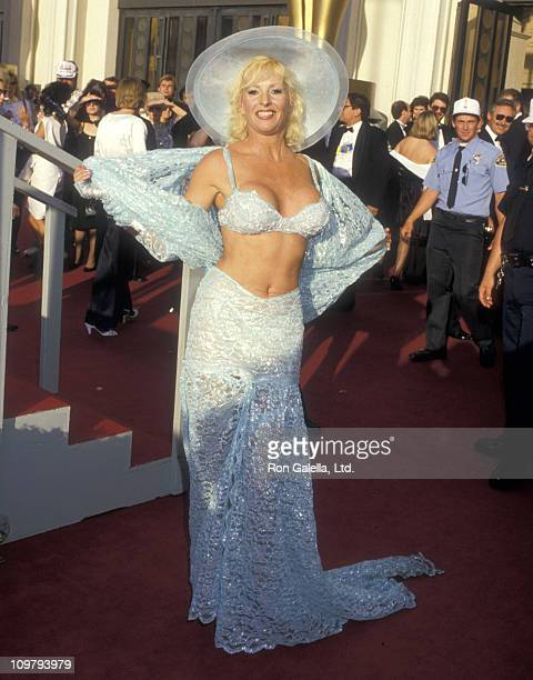 Actress Edy Williams attends the 60th Annual Academy Awards on April 11 1988 at Shrine Auditorium in Los Angeles California