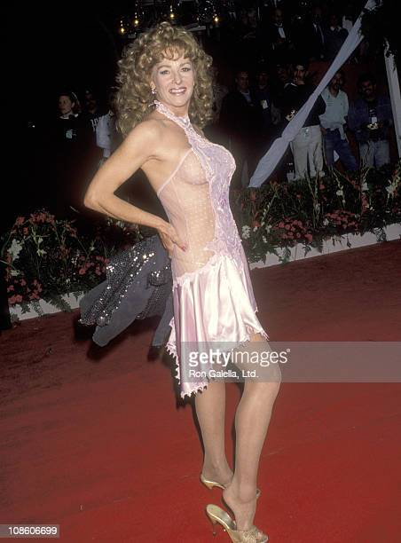 Actress Edy Williams attends the 65th Annual Academy Awards on March 29 1993 at Dorothy Chandler Pavilion in Los Angeles California