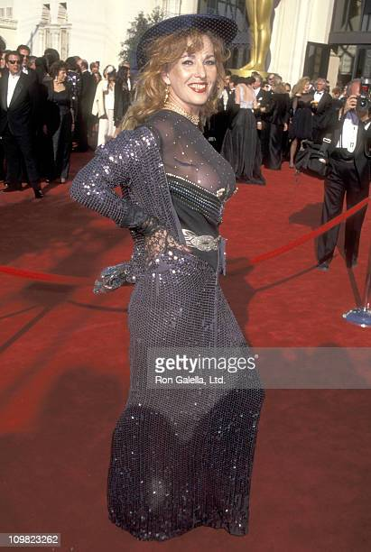 Actress Edy Williams attends the 67th Annual Academy Awards on March 27 1995 at Shrine Auditorium in Los Angeles California