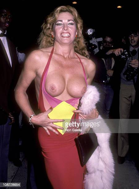 Actress Edy Williams attends the 'Legs' West Hollywood Premiere on April 26 1983 at DGA Theatre in West Hollywood California