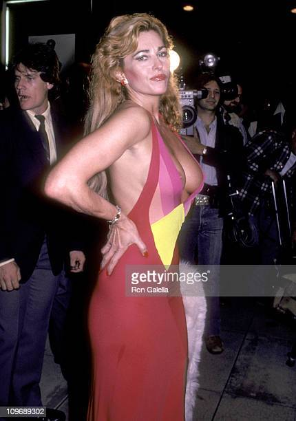 Actress Edy Williams attends the Legs West Hollywood Premiere on April 26 1983 at DGA Theatre in West Hollywood California