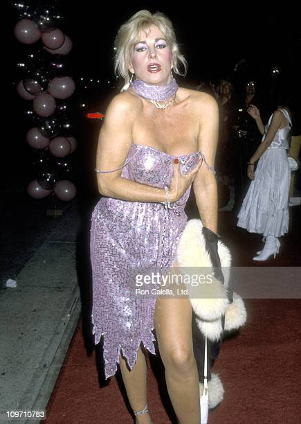 Actress Edy Williams attends The Naked Cage Hollywood Premiere on February 22 1986 at Cannon Films Headquarters in Hollywood California