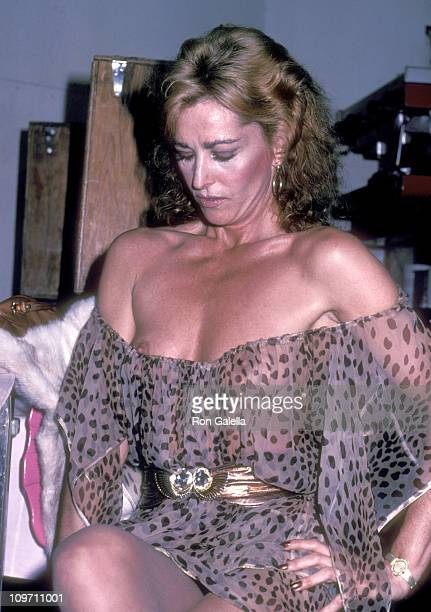 Actress Edy Williams attends the WrapUp Party for Chained Heart on February 6 1983 at La Cage aux Folles in Hollywood California