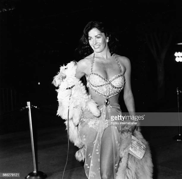 Actress Edy Williams wearing a revealing outfit at the 49th Academy Awards Los Angeles March 28th 1977