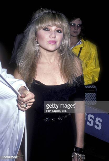 Actress EG Daily attends the 'Top Gun' New York City Premiere Party on May 12 1986 at America in New York City New York