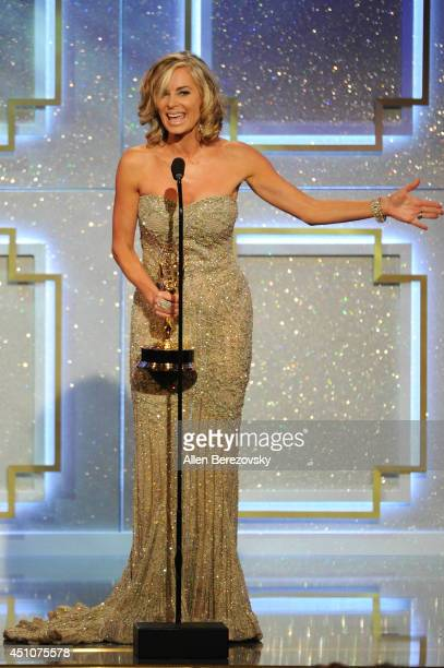 Actress Eileen Davidson accepts an Emmy Award for Outstanding Lead Actress in a Drama Series 'Days of Our Lives' onstage during the 41st Annual...