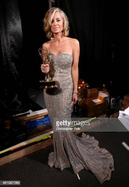 Actress Eileen Davidson backstage during The 41st Annual Daytime Emmy Awards at The Beverly Hilton Hotel on June 22 2014 in Beverly Hills California