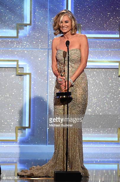 Actress Eileen Davidson onstage during The 41st Annual Daytime Emmy Awards at The Beverly Hilton Hotel on June 22 2014 in Beverly Hills California