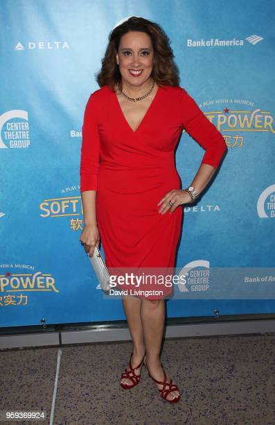 Actress Eileen Galindo attends the opening night of 'Soft Power' presented by the Center Theatre Group at the Ahmanson Theatre on May 16 2018 in Los...