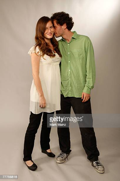 Actress Eireann Harper and filmmaker Jons Cuarn of the film Year Of The Nail poses in the portrait studio during AFI FEST 2007 presented by Audi held...