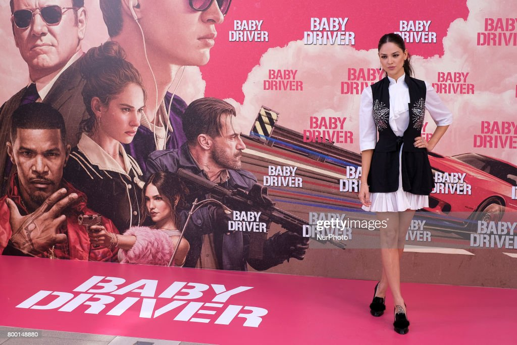 Actress Eiza Gonzalez a attends a photocall for 'Baby Driver' at the Villa Magna Hotel on June 23, 2017 in Madrid, Spain.