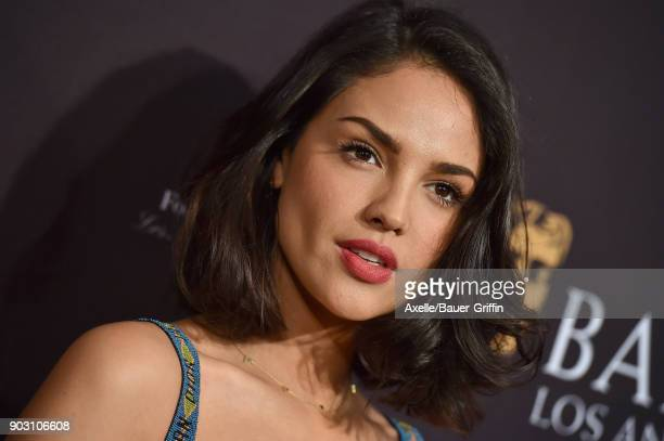 Actress Eiza Gonzalez arrives at The BAFTA Los Angeles Tea Party at Four Seasons Hotel Los Angeles at Beverly Hills on January 6 2018 in Los Angeles...