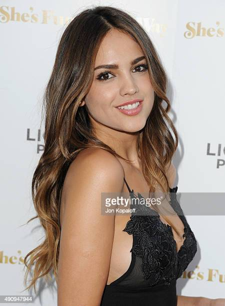 Actress Eiza Gonzalez arrives at the Los Angeles Premiere She's Funny That Way at Harmony Gold on August 19 2015 in Los Angeles California