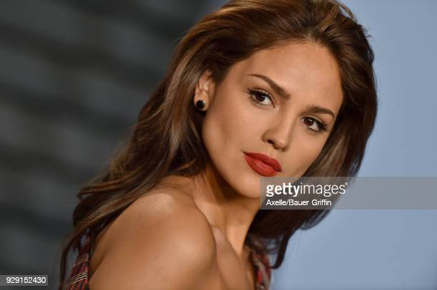 Actress Eiza Gonzalez attends the 2018 Vanity Fair Oscar Party hosted by Radhika Jones at Wallis Annenberg Center for the Performing Arts on March 4...