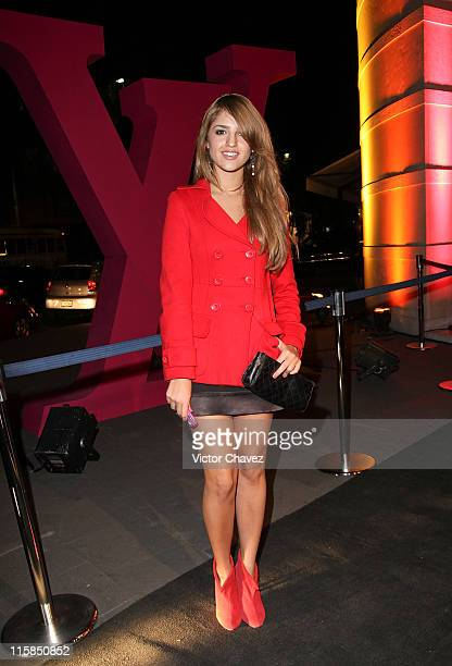 Actress Eiza Gonzalez attends the Louis Vuitton tribute to Stephen Sprouse at the Louis Vuitton Masaryk store on February 4 2009 in Mexico City Mexico