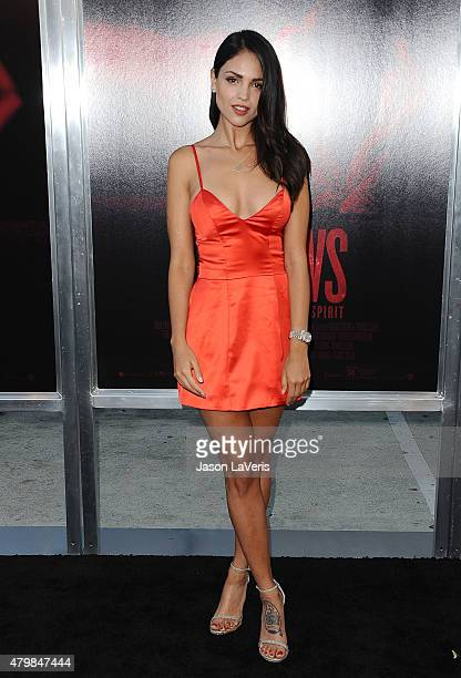 Actress Eiza Gonzalez attends the premiere of 'The Gallows' at Hollywood High School on July 7 2015 in Los Angeles California