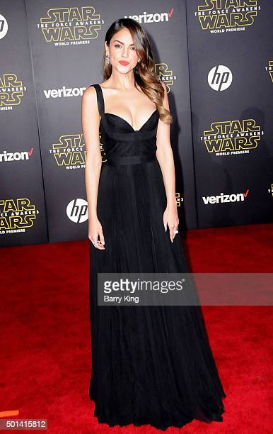 Actress Eiza Gonzalez attends the Premiere of Walt Disney Pictures and Lucasfilm's 'Star Wars The Force Awakens' on December 14 2015 in Hollywood...