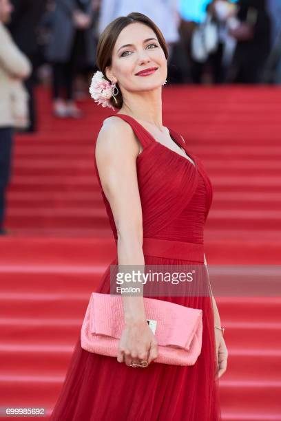 Actress Ekaterina Klimova attends opening of the 39th Moscow International Film Festival outside the Karo 11 Oktyabr Cinema on June 22 2017 in Moscow...