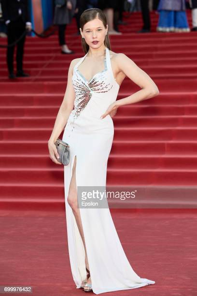 Actress Ekaterina Shpitsa attends opening of the 39th Moscow International Film Festival outside the Karo 11 Oktyabr Cinema on June 22 2017 in Moscow...