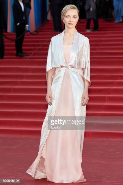 Actress Ekaterina Vilkova attends opening of the 39th Moscow International Film Festival outside the Karo 11 Oktyabr Cinema on June 22 2017 in Moscow...