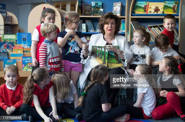 Actress Elaine C Smith during a visit to Hermitage Park Primary in Leith where she launched a new online reading initiative and recorded a reading of...