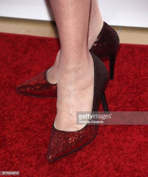 Actress Elaine DuPont shoe detail arrives at the 30th Annual Gypsy Awards Luncheon at The Beverly Hilton Hotel on April 23 2017 in Beverly Hills...