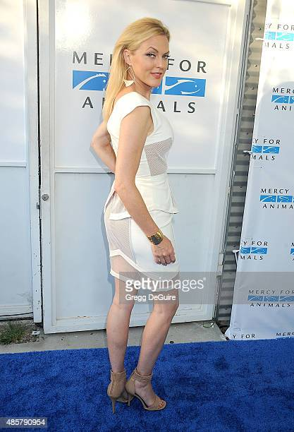 Actress Elaine Hendrix arrives at The Hidden Heroes Gala presented by Mercy For Animals at Unici Casa on August 29 2015 in Culver City California