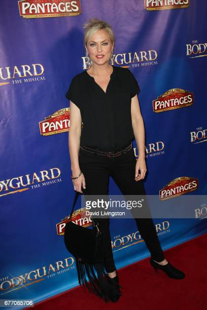 "Actress Elaine Hendrix arrives at the premiere of ""The Bodyguard"" at the Pantages Theatre on May 2, 2017 in Hollywood, California."