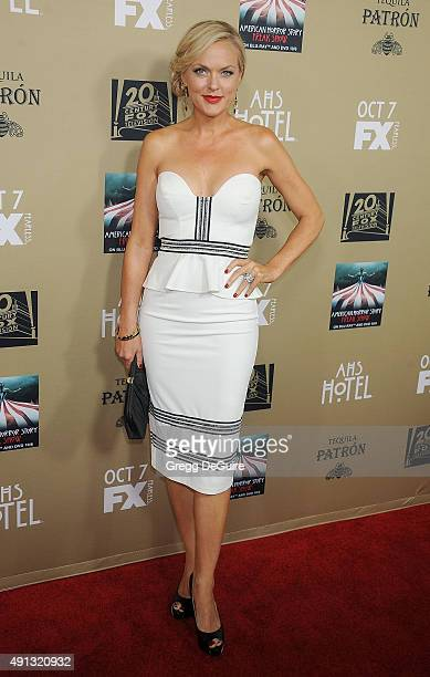 "Actress Elaine Hendrix arrives at the premiere screening of FX's ""American Horror Story: Hotel"" at Regal Cinemas L.A. Live on October 3, 2015 in Los..."