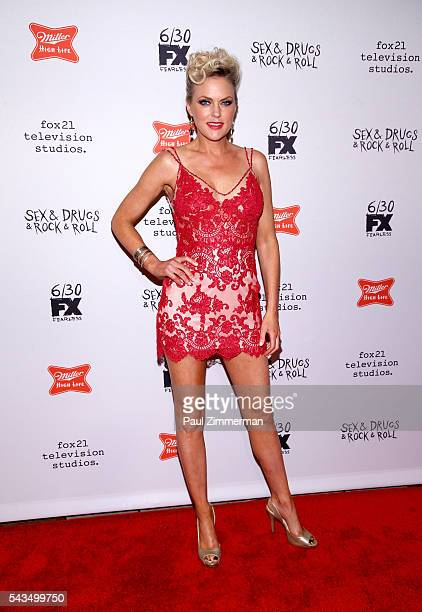 "Actress Elaine Hendrix attends ""Sex&Drugs&Rock&Roll"" Season 2 Premiere at AMC Loews 34th Street 14 theater on June 28, 2016 in New York City."
