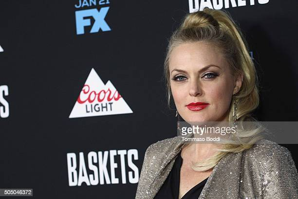 "Actress Elaine Hendrix attends the FX's ""Baskets"" red carpet premiere held at Pacific Design Center on January 14, 2016 in West Hollywood, California."