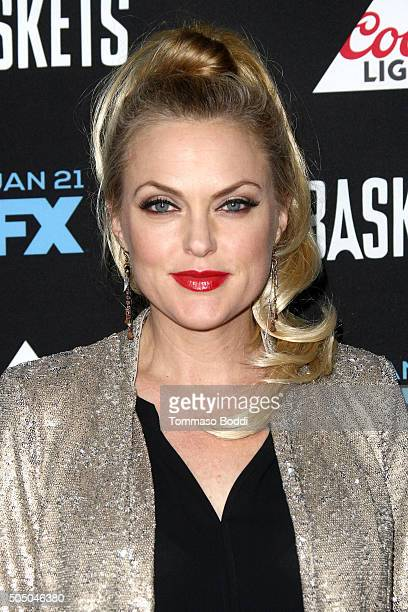 Actress Elaine Hendrix attends the FX's Baskets red carpet premiere held at Pacific Design Center on January 14 2016 in West Hollywood California