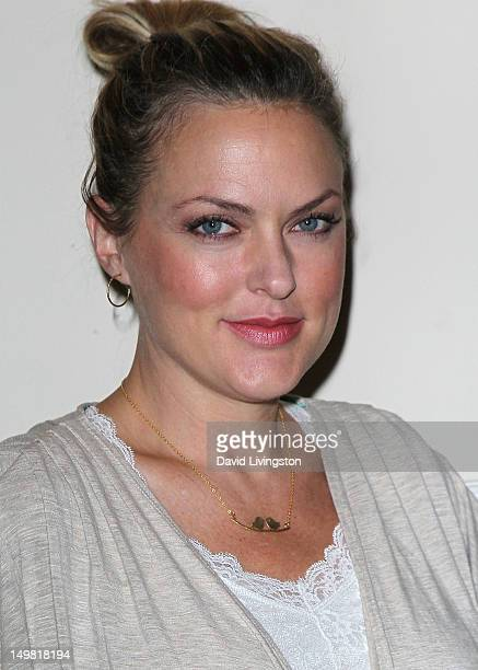 Actress Elaine Hendrix attends the Hooray for HollyWOOF 35th Anniversary Gala Fundraiser for Dogs for the Deaf at The Sportsman's Lodge on August 4...