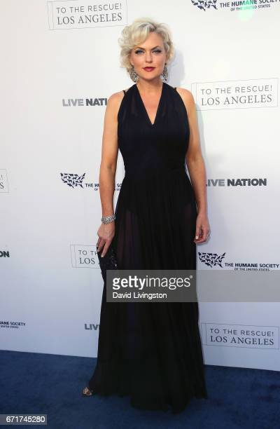 Actress Elaine Hendrix attends the Humane Society of the United States' Annual To The Rescue! Los Angeles Benefit at Paramount Studios on April 22,...